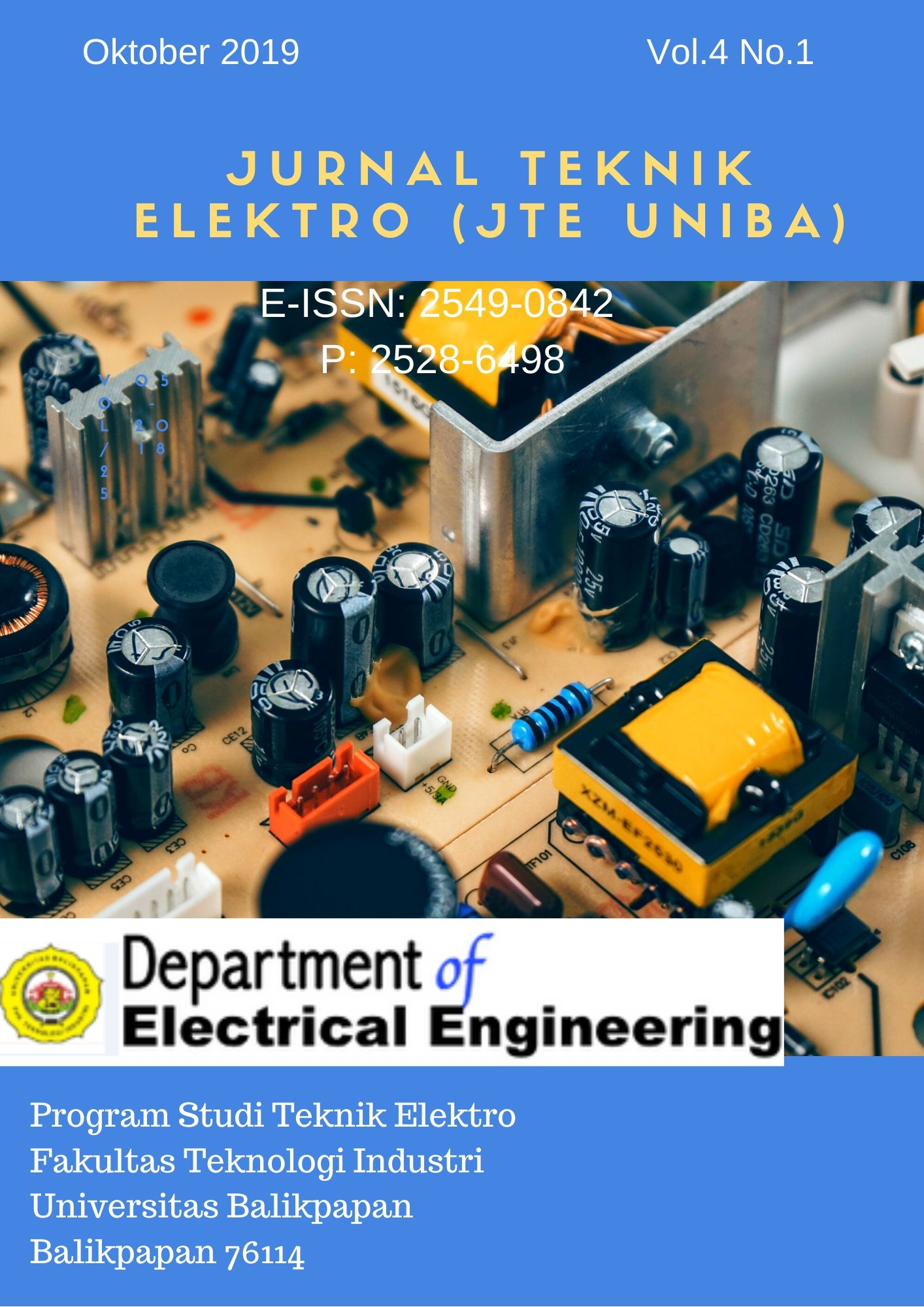 View Vol. 4 No. 1 (2019): Vol 4 No 1 (2019): JTE UNIBA (Jurnal Teknik Elektro Uniba)